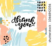 thank you card with abstract... | Shutterstock .eps vector #1066842056