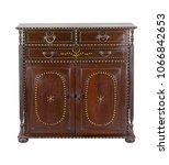 vintage antique wooden cabinet... | Shutterstock . vector #1066842653