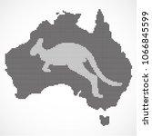 kangaroo australia icon.pixel... | Shutterstock .eps vector #1066845599