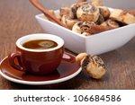 Pinwheel Cookies And Coffee Cup