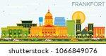 frankfort kentucky usa city... | Shutterstock . vector #1066849076