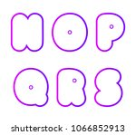 vector set of super bold... | Shutterstock .eps vector #1066852913
