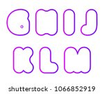 vector set of super bold... | Shutterstock .eps vector #1066852919
