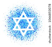 vector star of david  icon with ... | Shutterstock .eps vector #1066853078
