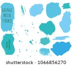 set of blue ink vector stains.... | Shutterstock .eps vector #1066856270
