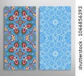 vertical seamless patterns set  ... | Shutterstock .eps vector #1066856393