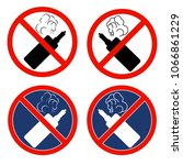 a set of signs with electronic... | Shutterstock .eps vector #1066861229