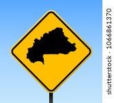 burkina faso map road sign.... | Shutterstock .eps vector #1066861370