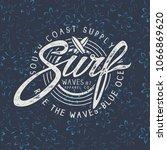 surf logo.t shirt print design | Shutterstock .eps vector #1066869620