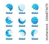 vector logo globe | Shutterstock .eps vector #1066873670