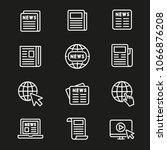 newspaper line icon   Shutterstock .eps vector #1066876208