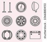 set of motorcycle parts. vector ... | Shutterstock .eps vector #1066880453