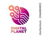 world tech logo design template.... | Shutterstock .eps vector #1066884803