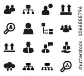 flat vector icon set  ... | Shutterstock .eps vector #1066888796