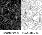 black and white wave patterns.... | Shutterstock . vector #1066888943