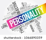 personality word cloud collage  ... | Shutterstock .eps vector #1066890359