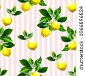 seamless citrus pattern with...   Shutterstock .eps vector #1066896824