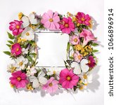 frame of galsang flower with... | Shutterstock . vector #1066896914