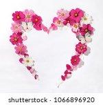 heart shaped wreath of galsang... | Shutterstock . vector #1066896920
