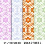 set of seamless floral pattern. ... | Shutterstock .eps vector #1066898558