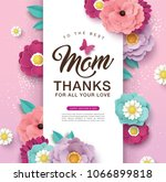 happy mother's day greeting... | Shutterstock .eps vector #1066899818
