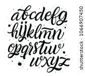 handwritten script font... | Shutterstock .eps vector #1066907450