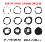 circle scribble line sketch set ... | Shutterstock .eps vector #1066908689