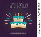 happy birthday card | Shutterstock .eps vector #1066912838