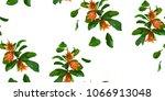 pomegranate branch seamless...   Shutterstock .eps vector #1066913048