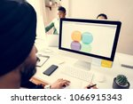 business people working in... | Shutterstock . vector #1066915343