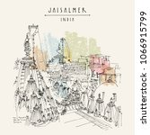 jaisalmer  rajasthan  india....   Shutterstock .eps vector #1066915799