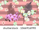 trendy stripped pattern with... | Shutterstock .eps vector #1066916990
