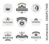 camping logos templates vector... | Shutterstock .eps vector #1066917440