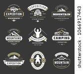 camping logos templates vector... | Shutterstock .eps vector #1066917443
