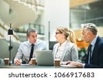 group of mature businesspeople... | Shutterstock . vector #1066917683