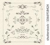 vector decorative frame. set... | Shutterstock .eps vector #1066918424