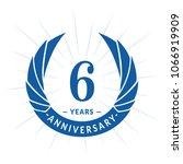 6 years anniversary. elegant... | Shutterstock .eps vector #1066919909