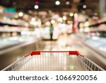 shopping cart with abstract... | Shutterstock . vector #1066920056