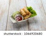 deep fried spring rolls   popia | Shutterstock . vector #1066920680