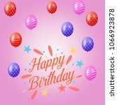 happy birthday background | Shutterstock .eps vector #1066923878