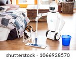 robot or automatic floor... | Shutterstock . vector #1066928570