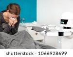 autonomous medicine or care... | Shutterstock . vector #1066928699