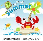 summer holiday with little... | Shutterstock .eps vector #1066929179