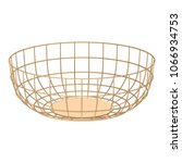 metal wire fruit basket... | Shutterstock .eps vector #1066934753