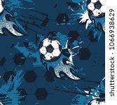 abstract seamless football...   Shutterstock .eps vector #1066938629