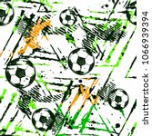abstract seamless football... | Shutterstock .eps vector #1066939394