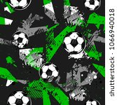 abstract seamless football... | Shutterstock .eps vector #1066940018