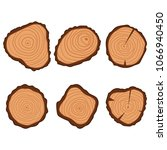 tree wood ring vector flat... | Shutterstock .eps vector #1066940450