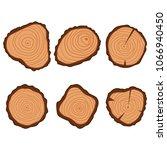 tree wood ring vector flat... | Shutterstock .eps vector #1066940450