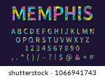 pop art memphis style font for... | Shutterstock .eps vector #1066941743